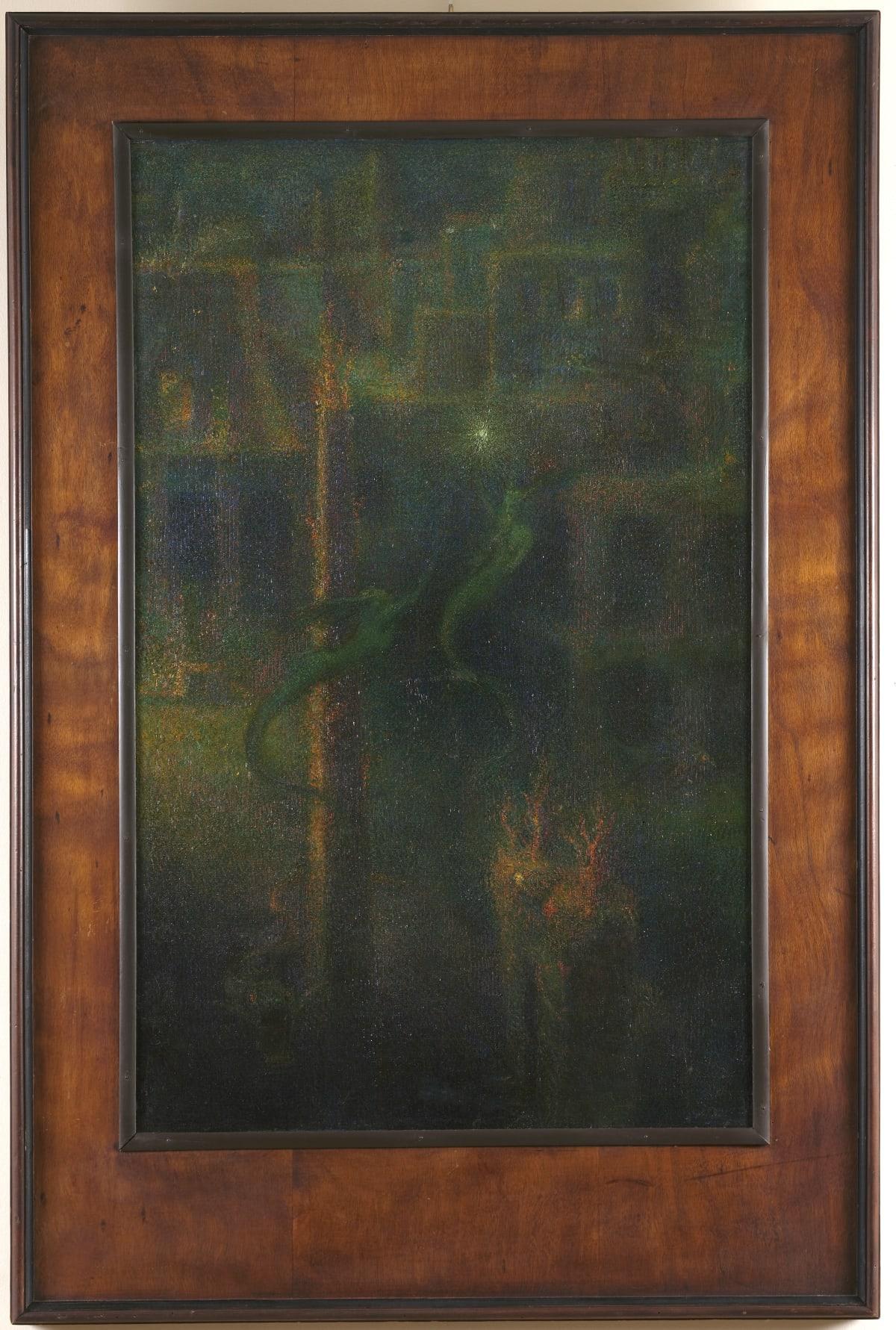 """Johan Axel Holmström Paysage sous-marin, dit « Le Secret de la Mer » [""""Havets hemlighet""""], 1903 Huile sur toile marouflée sur panneau 139,5 x 92,5 cm (cadre compris) Signé, situé et daté « Axel Holmström Roma 1903 » en bas à droite"""