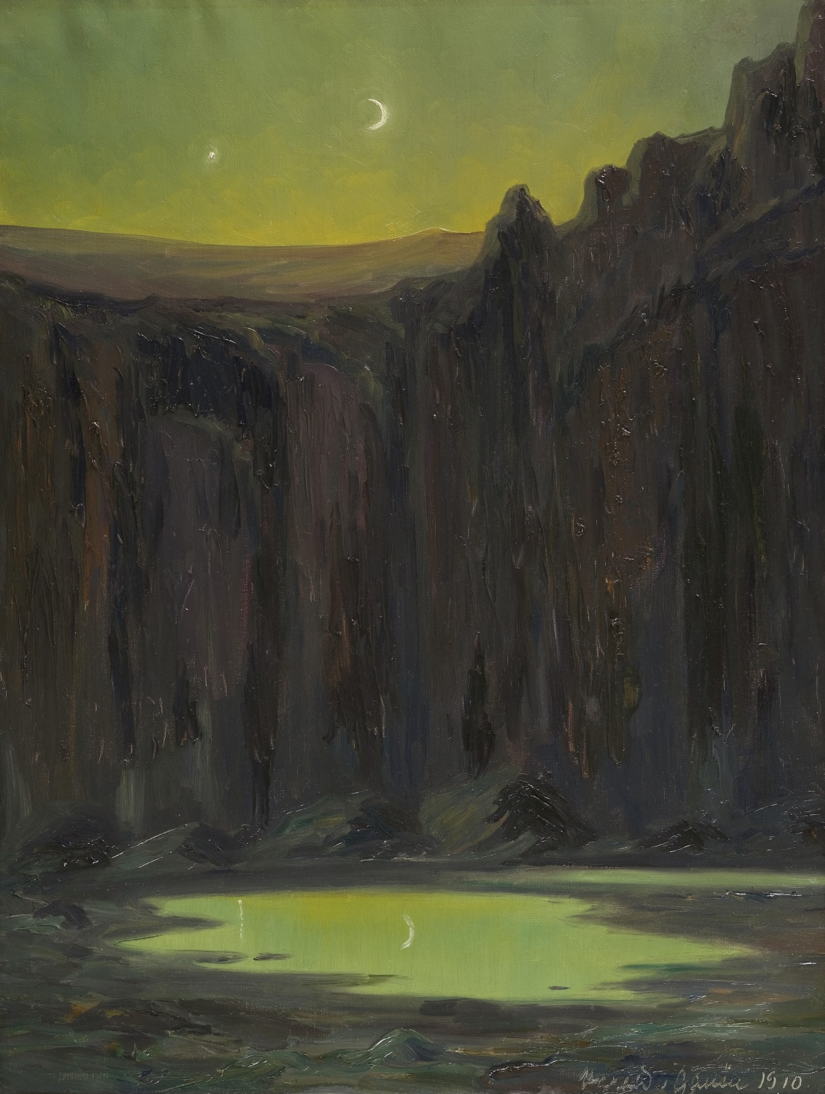 Arthur Harald-Gallén Croissant de lune, 1910 Huile sur toile 72 x 56 cm Signé et daté en bas à droite