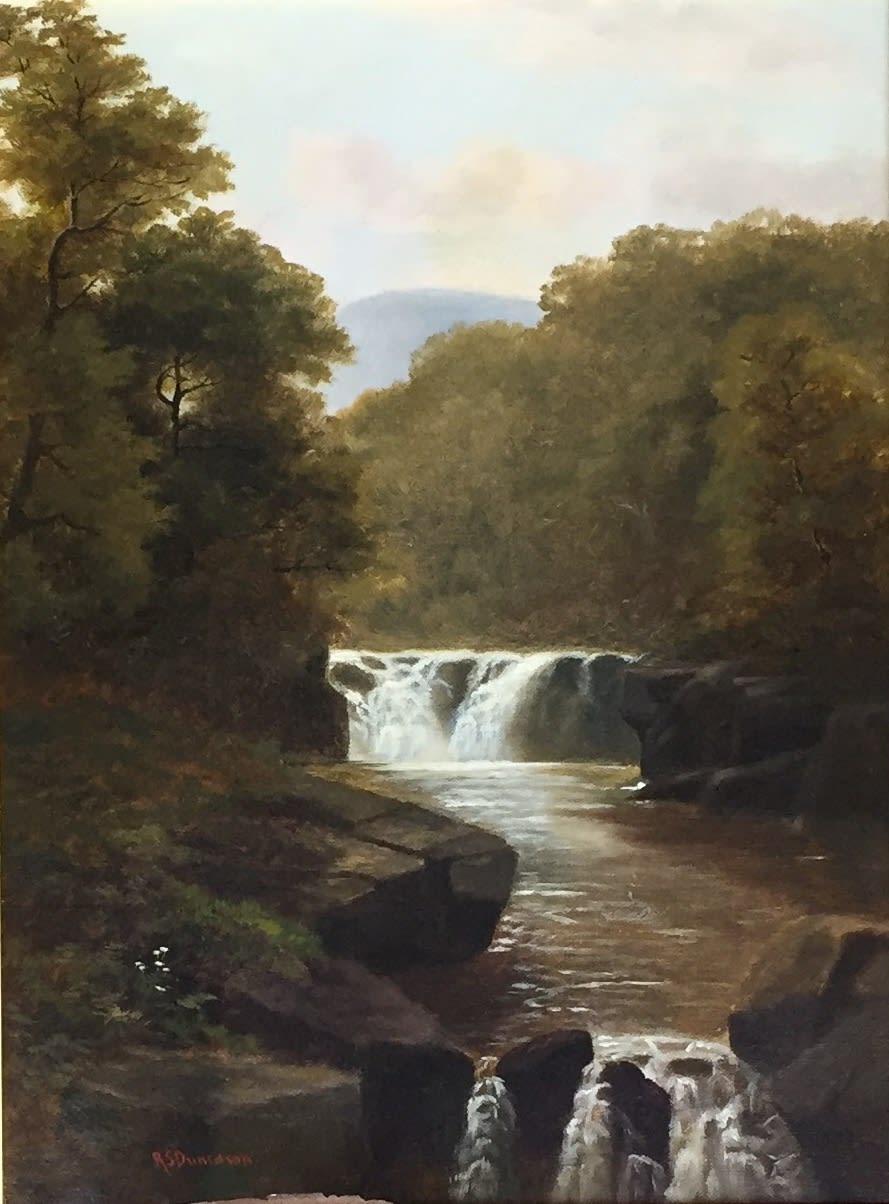 Robert Scott Duncanson Waterfall and Trees, 1869 Oil on Canvas Unframed: 16 x 12