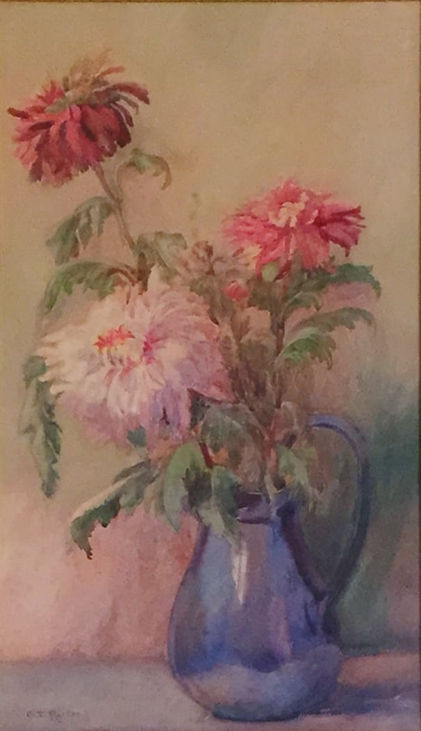 Charles Ethan Porter Daisies in blue vase (Still Life), c.1880 Watercolor on Paper 14 x 19