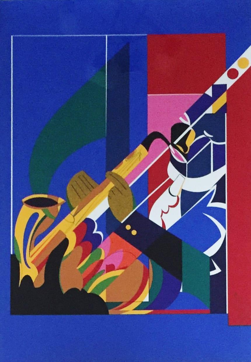 Romare Howard Bearden Untitled Serigraph 23 x 16 3/50