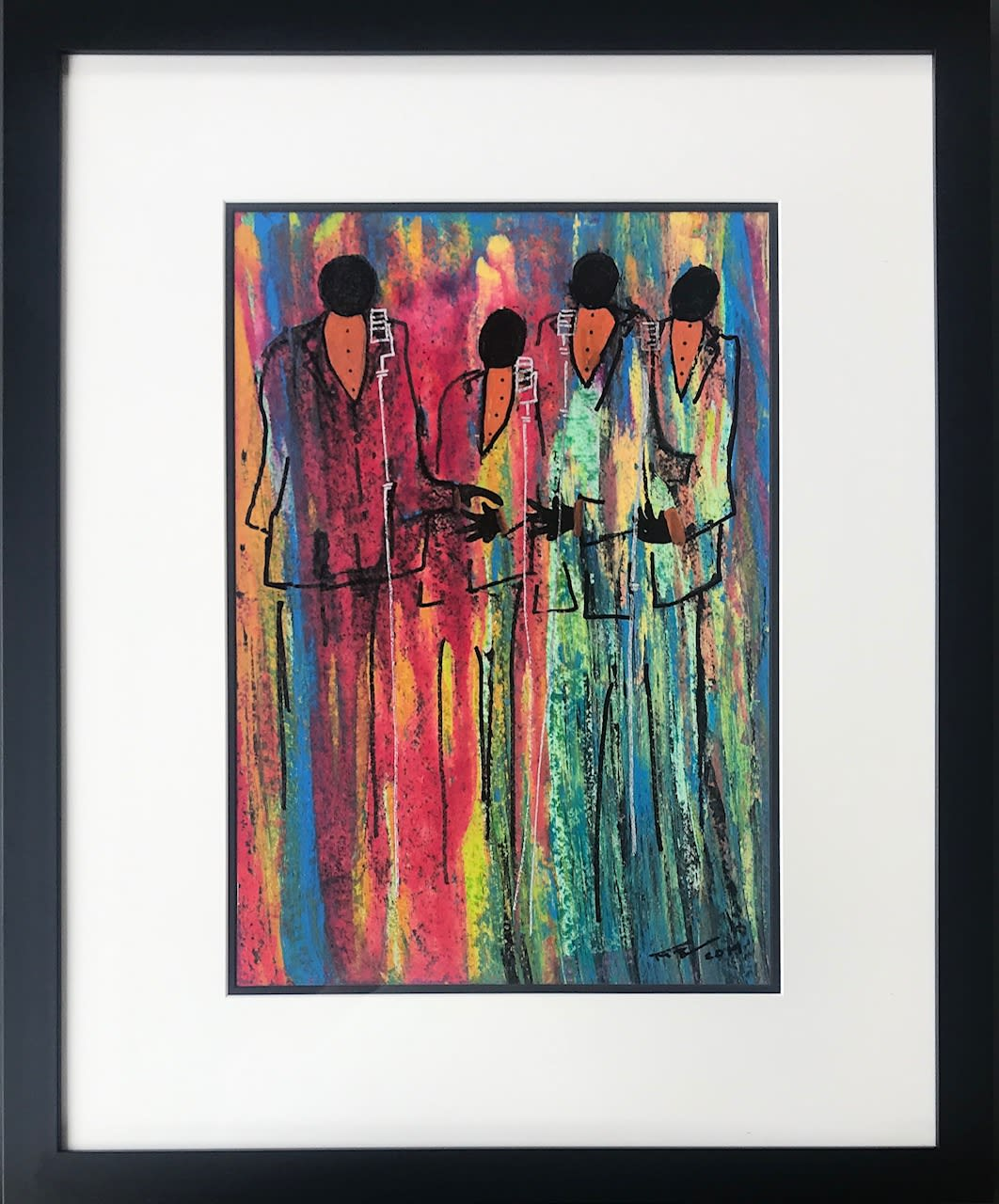 Frank Frazier Remembering the Four Tops, 2019 Mixed Media 27 x 33