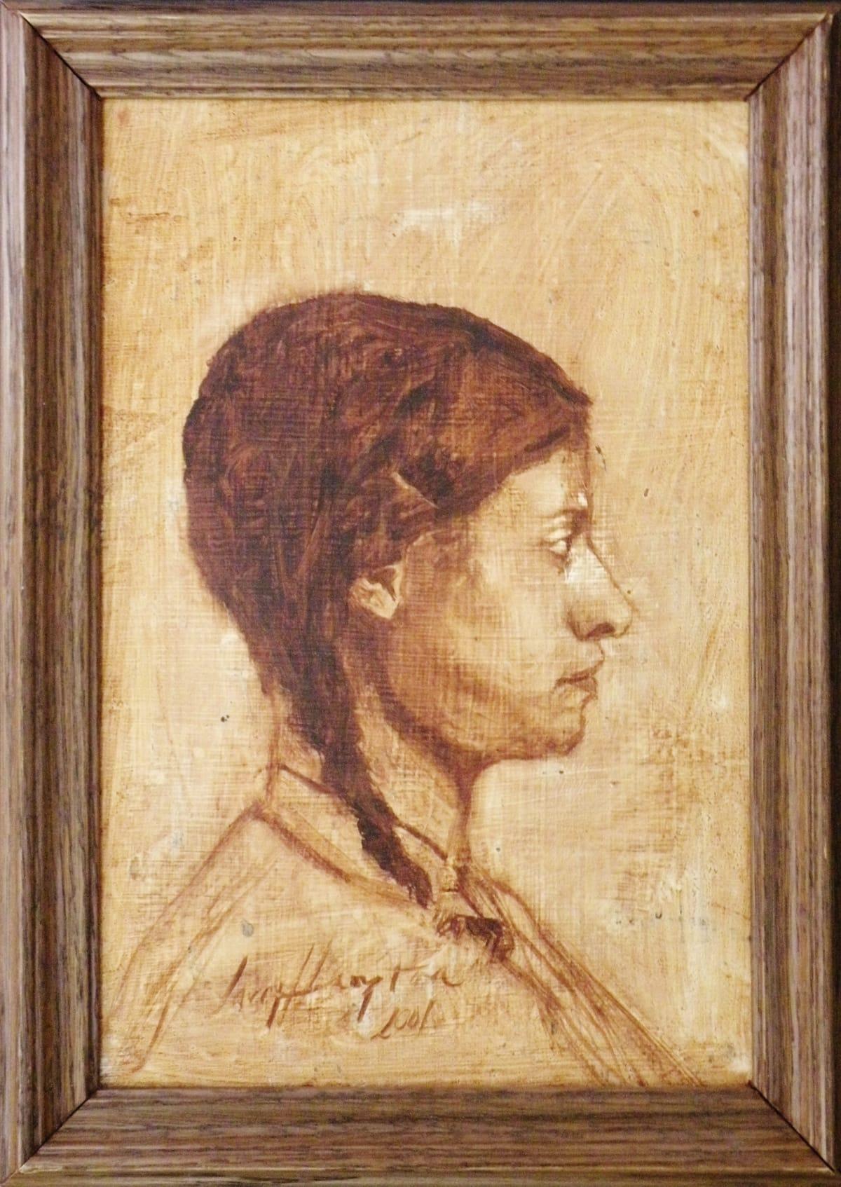 Wade Hampton Isabelle (Profile), 2001 Oil on Panel 12 x 18