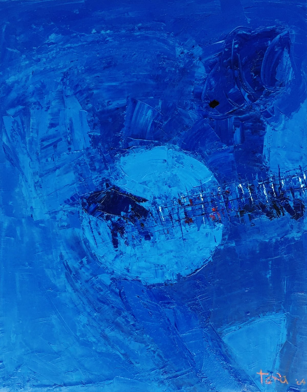 TAFA Banjo at Moonlight, 2004.0 Oil on Canvas 22 x 28