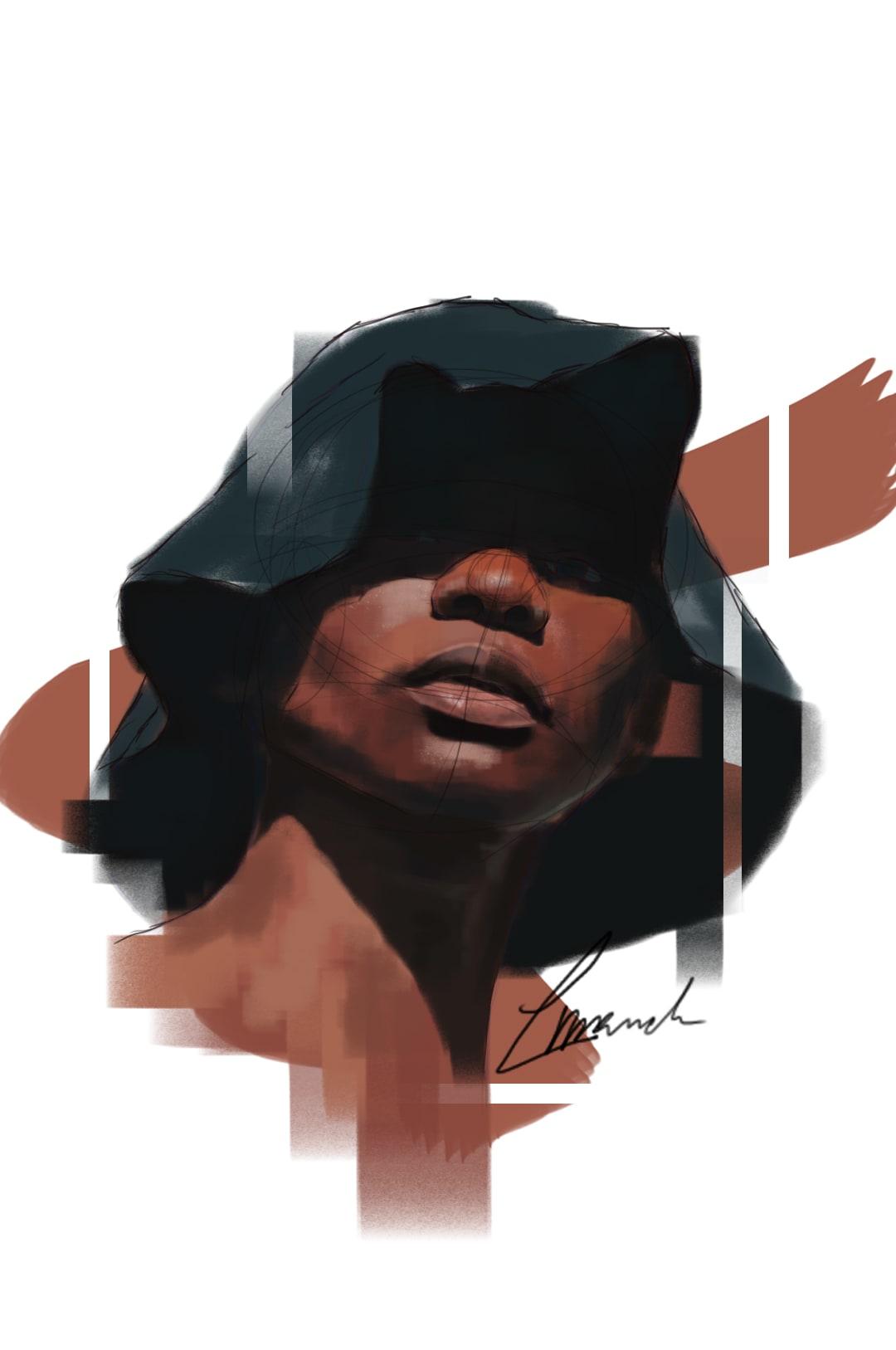 Louise Mandumbwa At The Height of Summer Digital Illustration 36 x 22