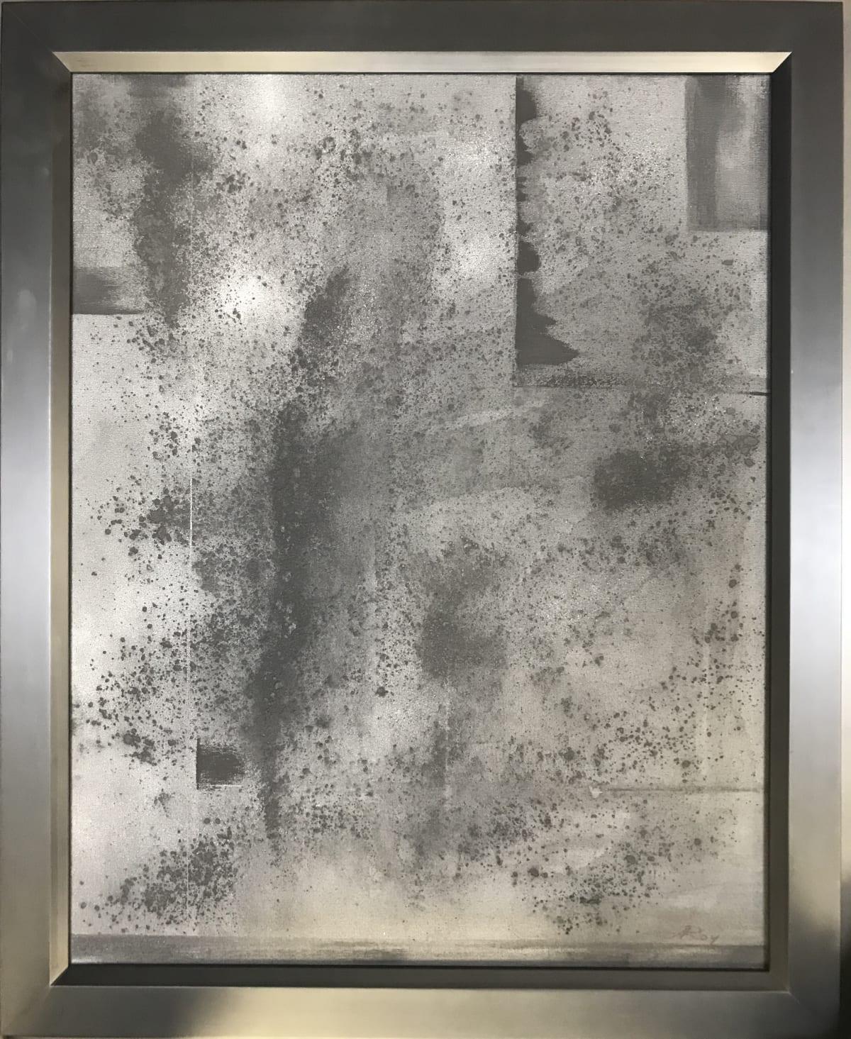 Alvin Roy The Deluge Graphite on Canvas 22 x 28