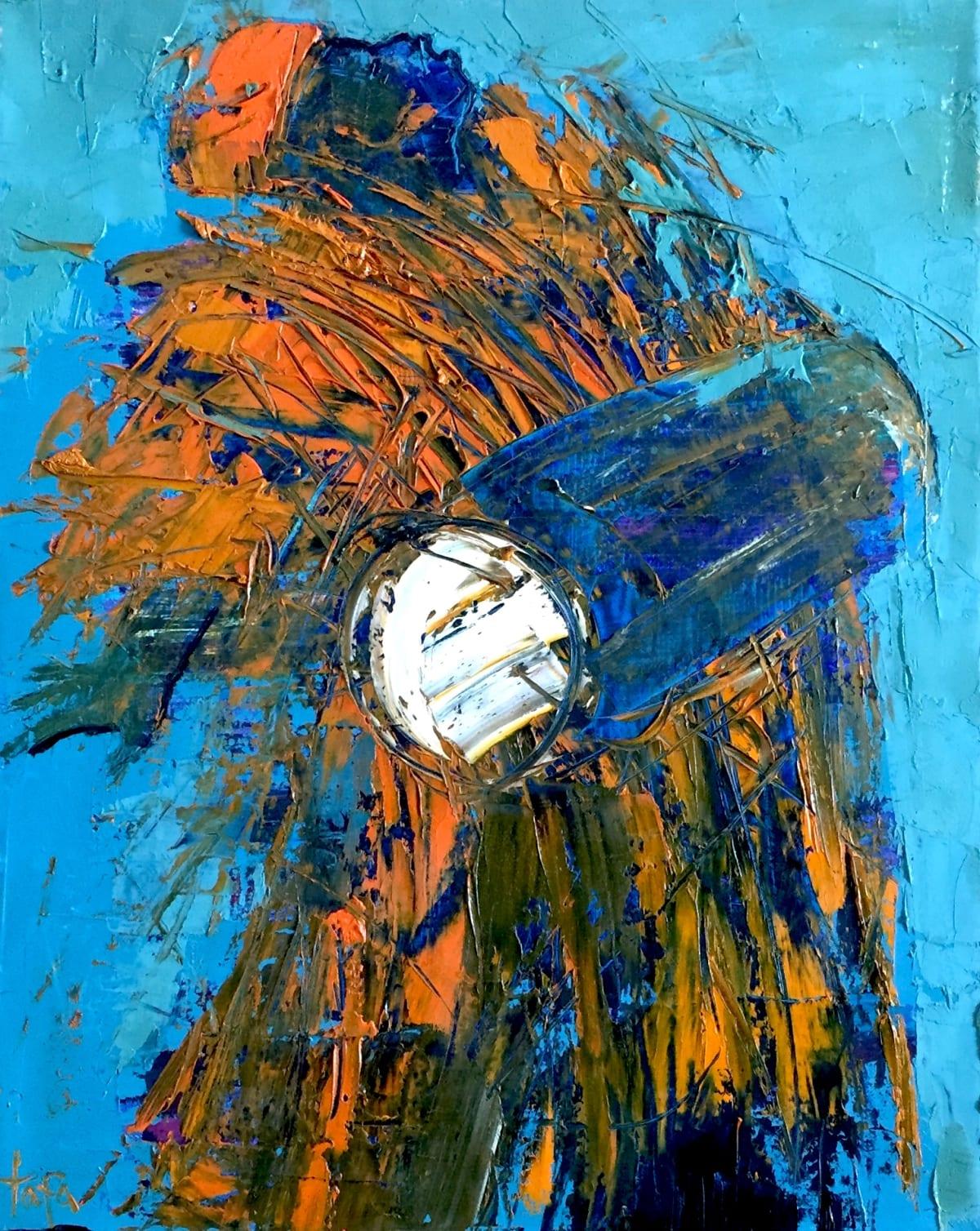 TAFA Drummer, Yellow, 2004.0 Oil on Canvas 20 x 16