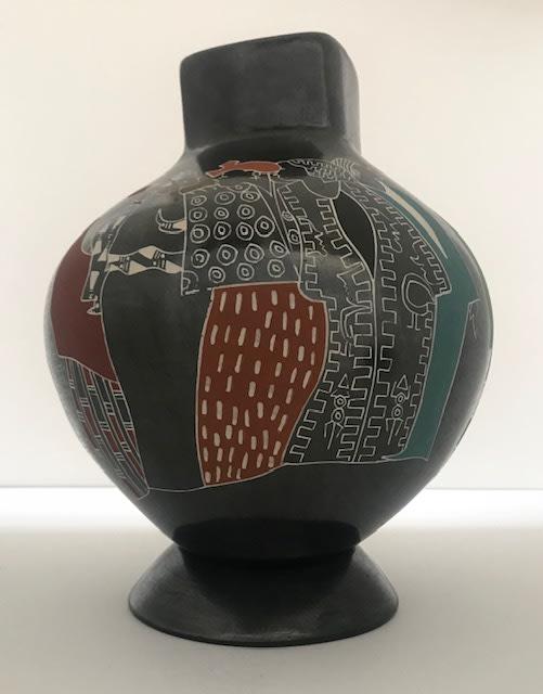Frank Frazier Vase III, 2019 Raku Clay Vase 9 x 12 x 12