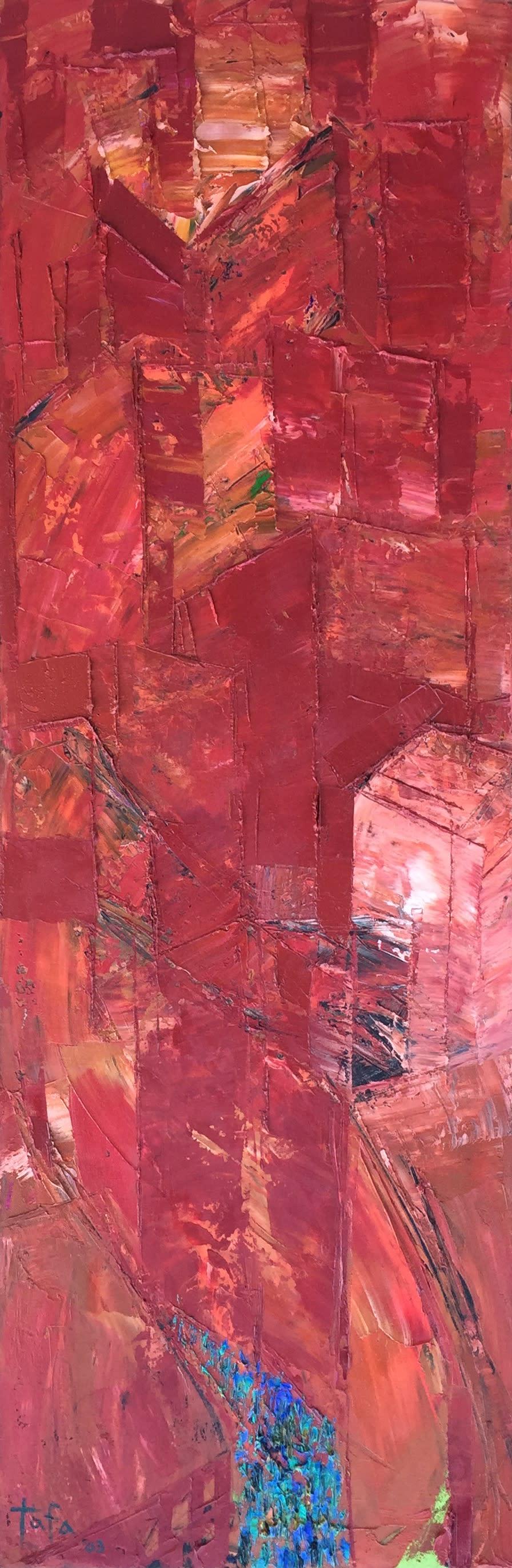 TAFA Red Jungle, 2003.0 Oil 42 x 14