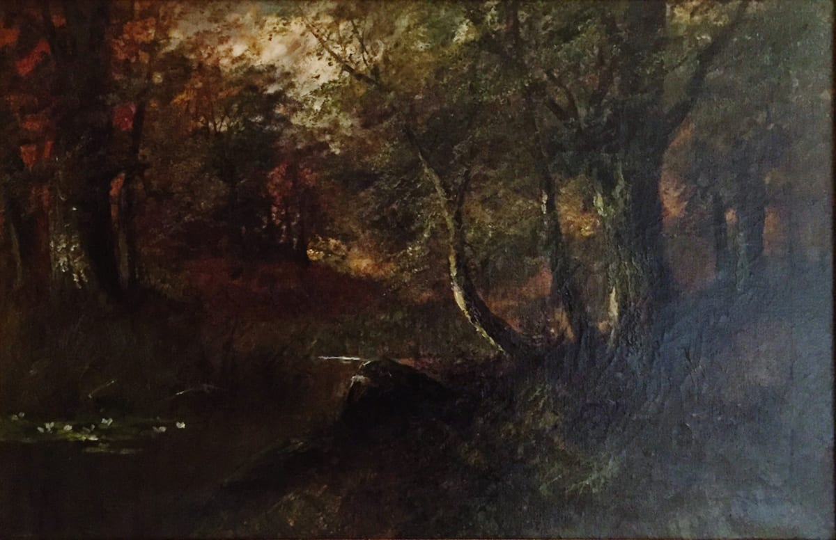 """Charles Ethan Porter Landscape/ """"New Forest�, c.1879 Oil on Canvas 20 x 30"""