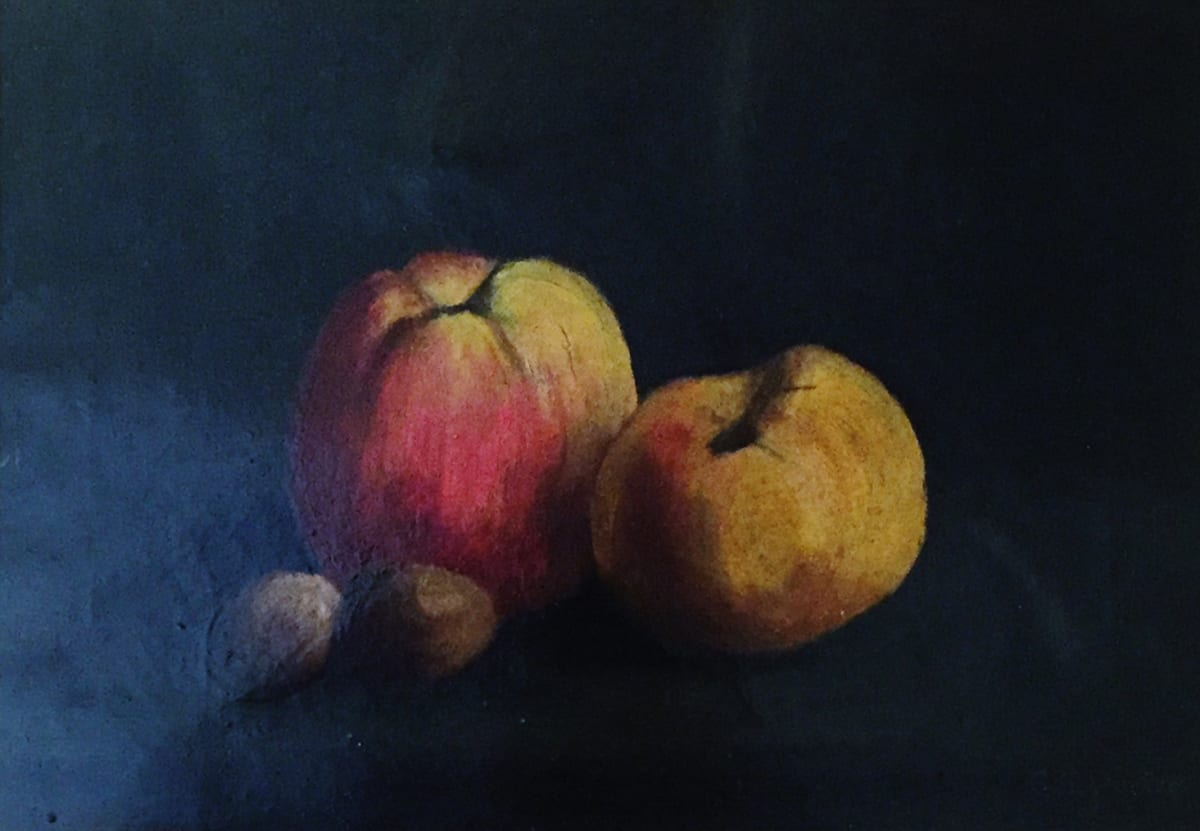 Charles Ethan Porter Untilted, 2 Apples, 2 grapes Oil on Canvas 10 x 14