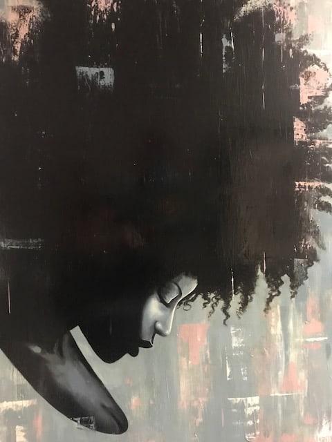 Curtis Gerhardt Black Girl Magic Acrylic on Canvas 36 x 48