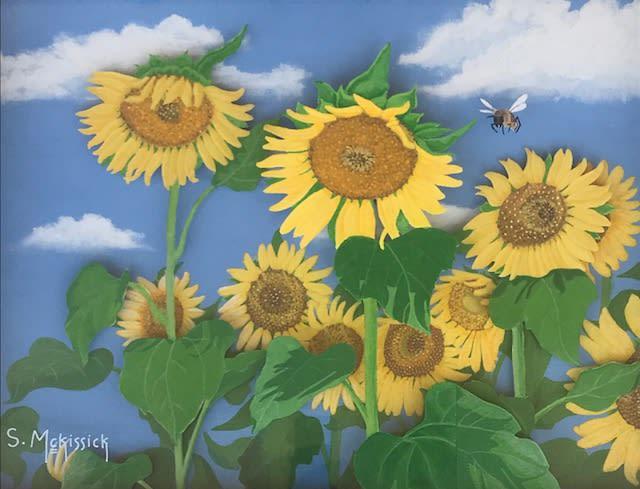 Sylvester McKissick Summer, 2013 Acrylic/Canvas on Plexiglass 25 1/2 x 17 1/2