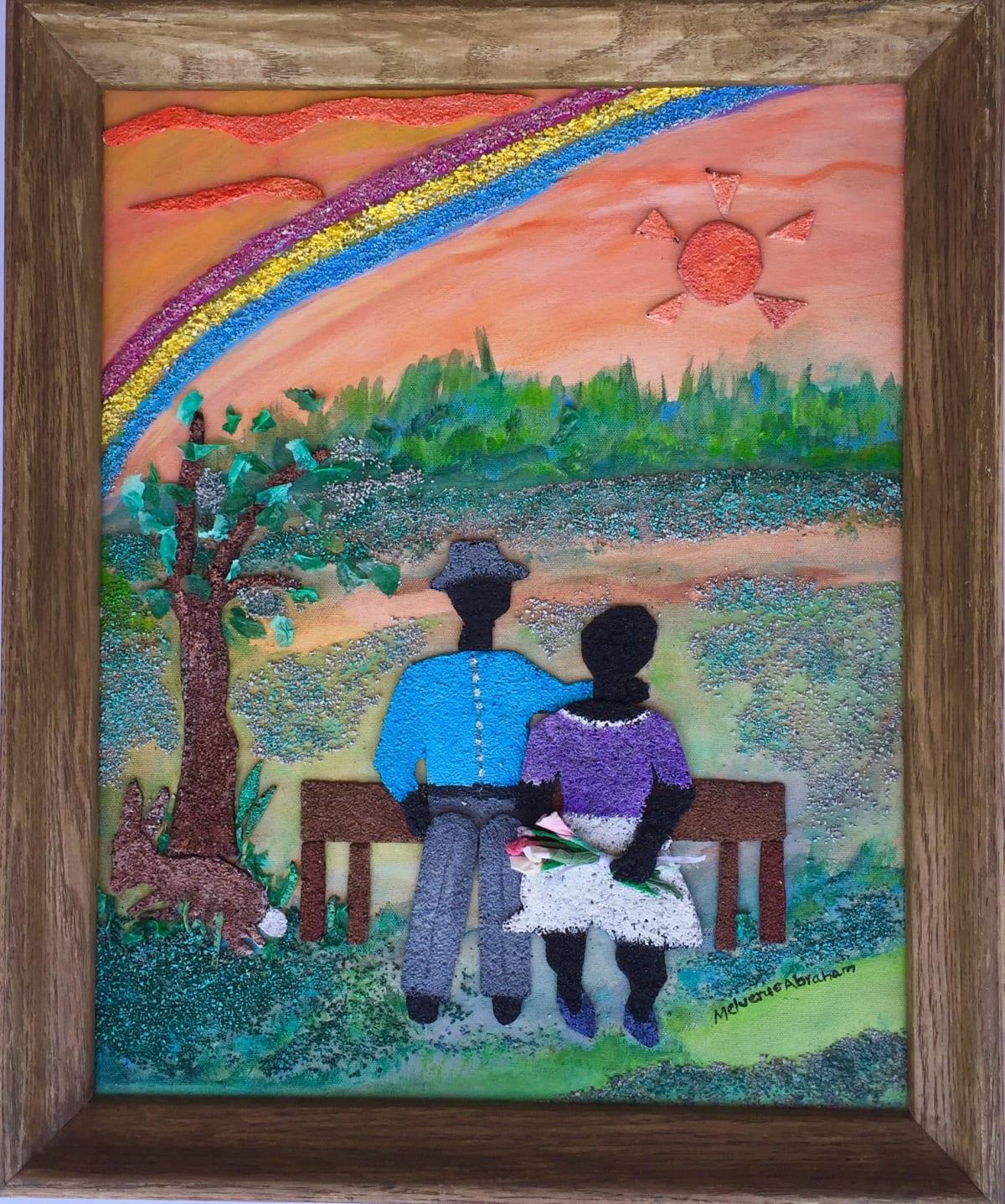 Melverue Abraham Loving the Simple Life Mixed Media on Canvas 16 x 20