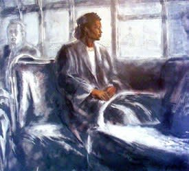 """Artis Lane Rosa Parks The Beginning 24"""" x 27"""" Limited Edition 750 Lithograph"""