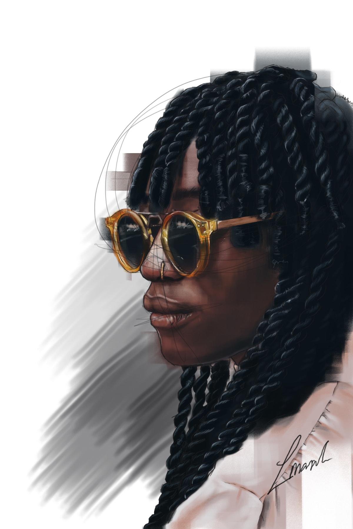 Louise Mandumbwa Velma Rosa Digital Illustration 36 x 22