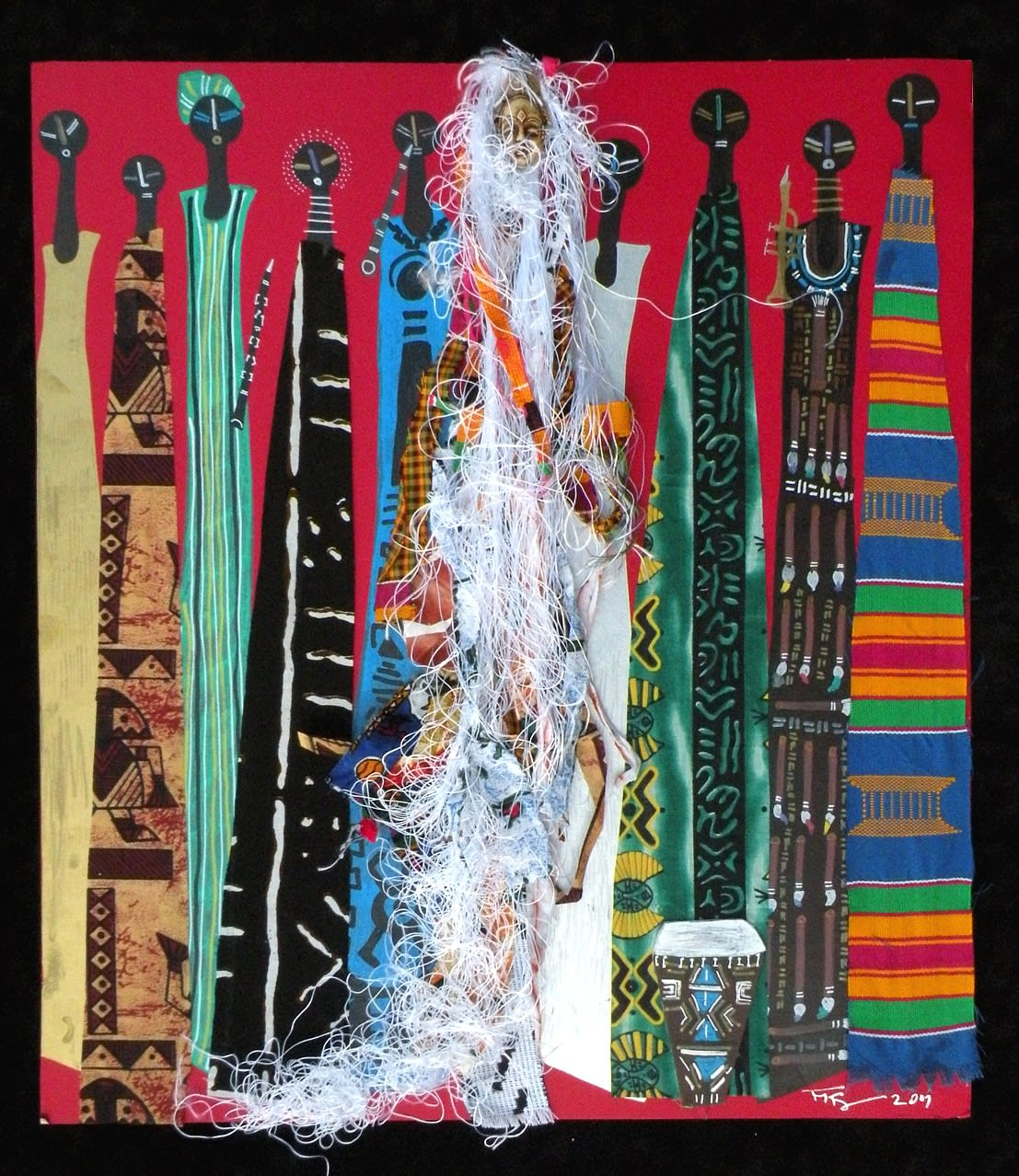 Frank Frazier Ubuntu, 2009 Mixed Media & Collage on Paper 24 1/2 x 21 1/2