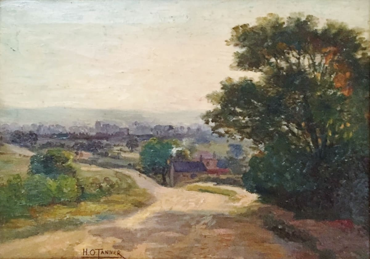 Henry Ossawa Tanner Untitled (Road and tree on the side), c.1893 Oil on Canvas Framed: 19 x 15 x 1 3/4 Unframed: 9 1/2 x 13 1/2