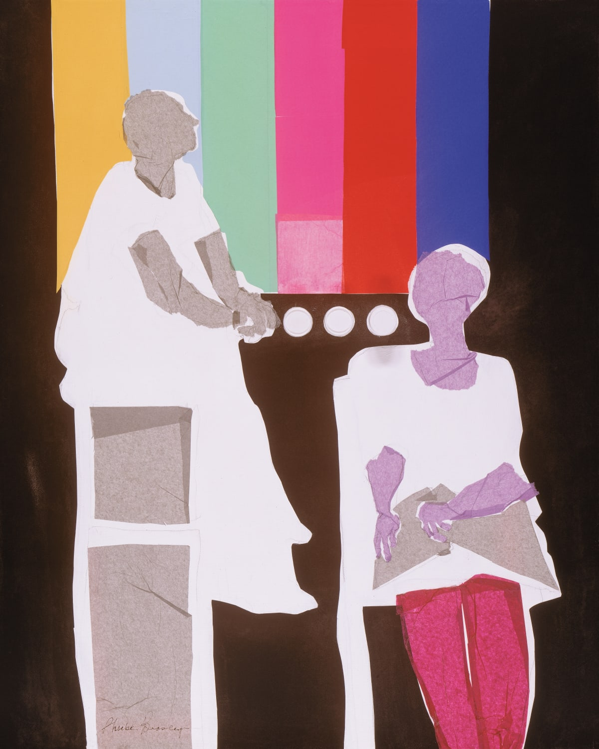 """Phoebe Beasley Soap Box, 1997 Collage on Canvas 30"""" x 23"""""""