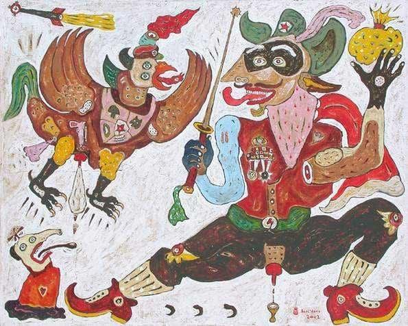 Heri Dono, Garuda Mengeluh Kepada Zorro, 2002