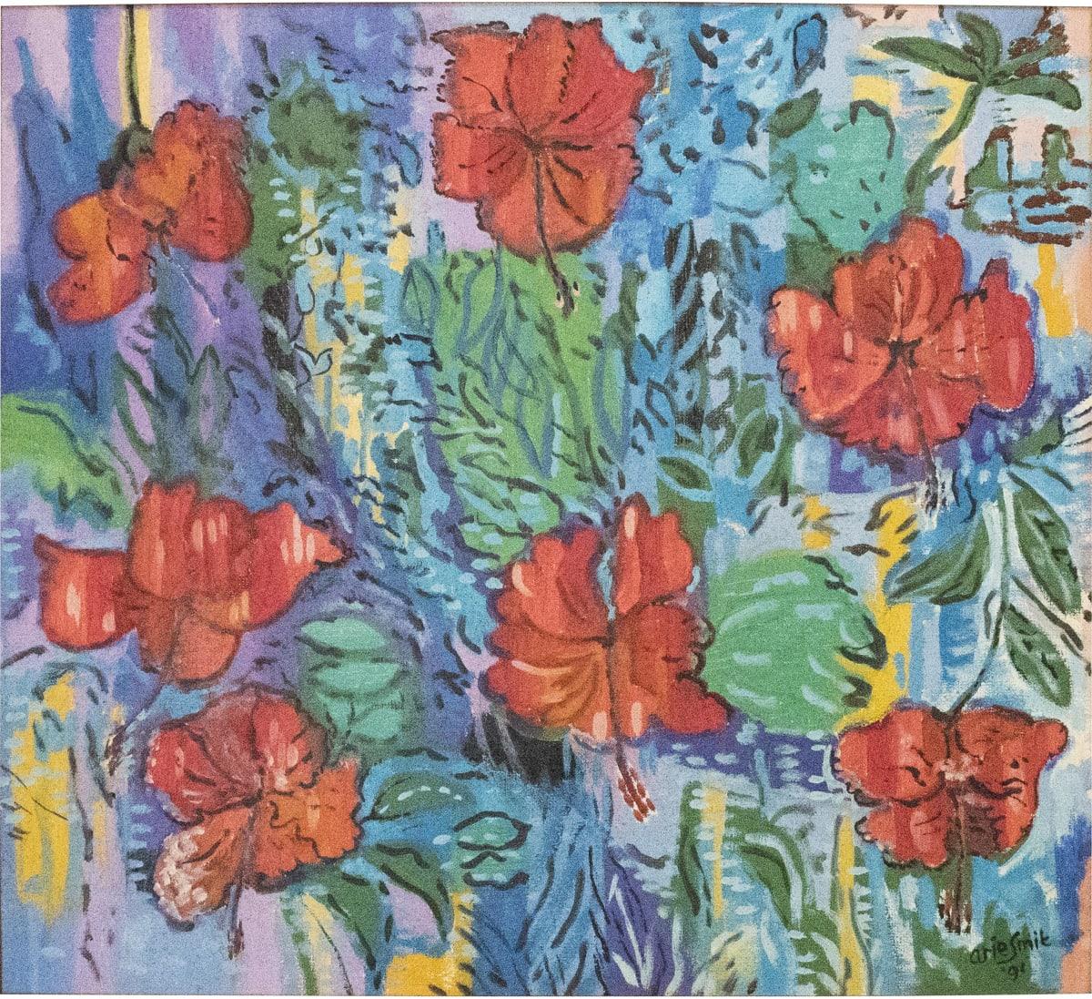Arie Smit, Hibiscus , 1991