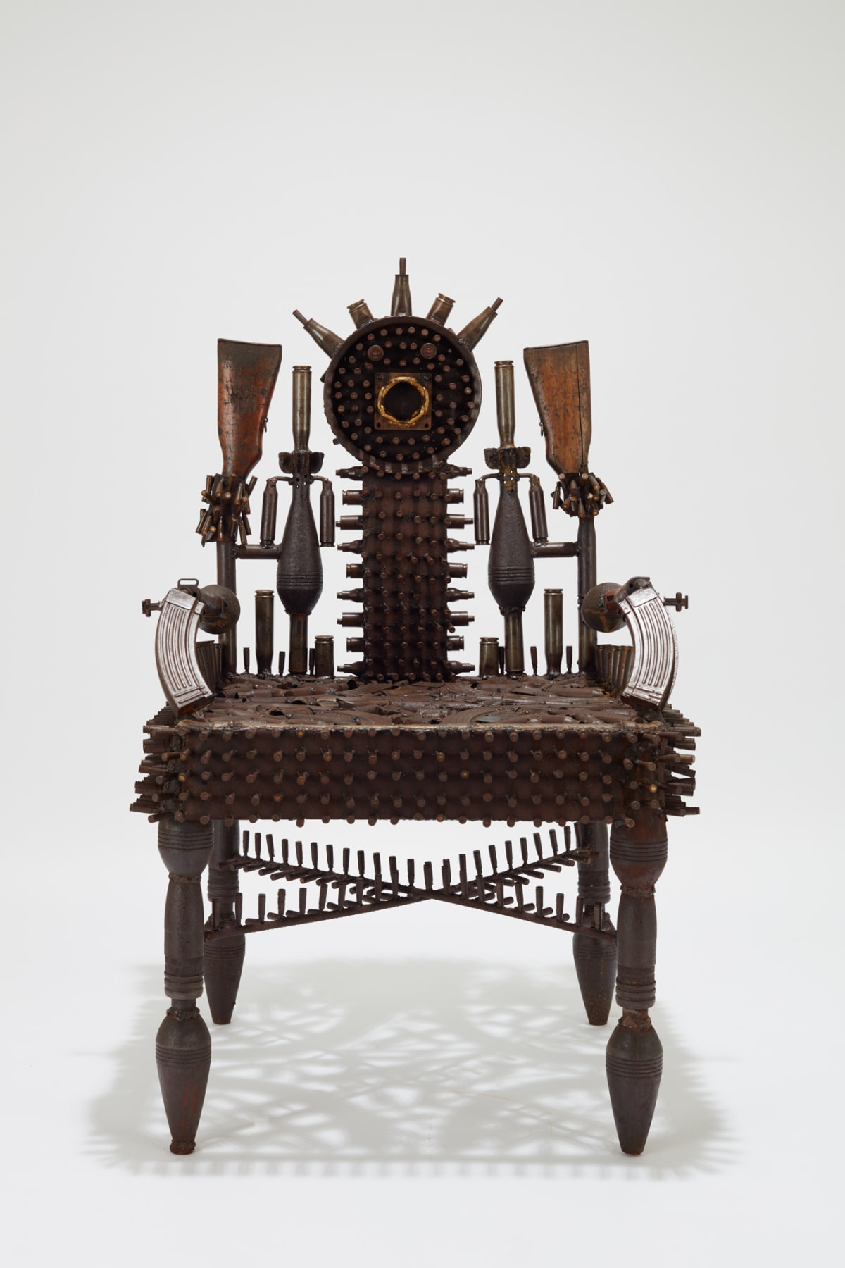 Goncalo Mabunda, The Throne of Consciences, 2019