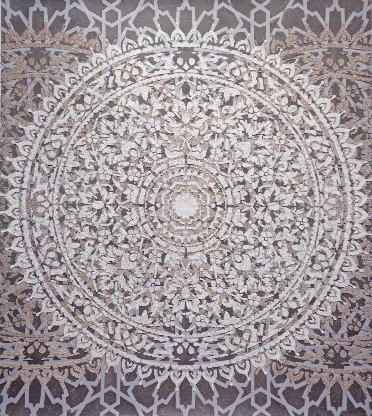 Eleanor White, Eggshell / Ash Mandala, 2018
