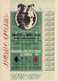 DUCHAMP Marcel, Obligations pour la roulette de Monte Carlo, 1938