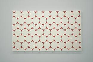 """MORELLET François, 52 x 4 no. 3 (Quand j'étais petit, je ne faisais pas grand) blow up from """"cercles et demi-cercles"""", 1952, 2006"""