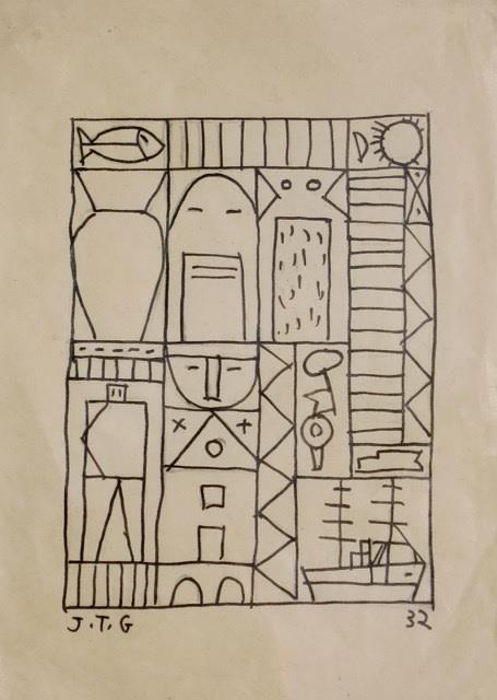 TORRES-GARCIA Joaquin, Constructive Mask (or Untitled), 1932