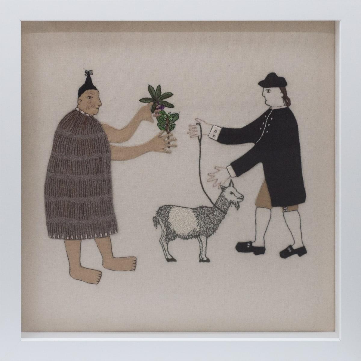 Sarah Munro, Trade Items: Goat, Mahoe, Papauma, 2018
