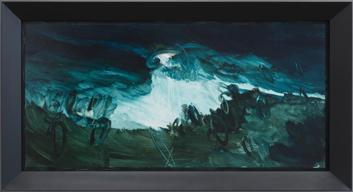 John WALSH Kōwhaiwhai Rising, 2019 oil on board 800mm x 1400mm (framed)
