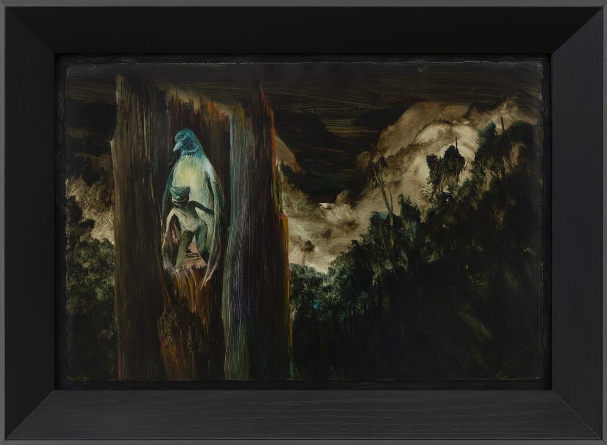 John WALSH Is That You Greta?, 2019 oil on board 520mm x 720mm (framed)