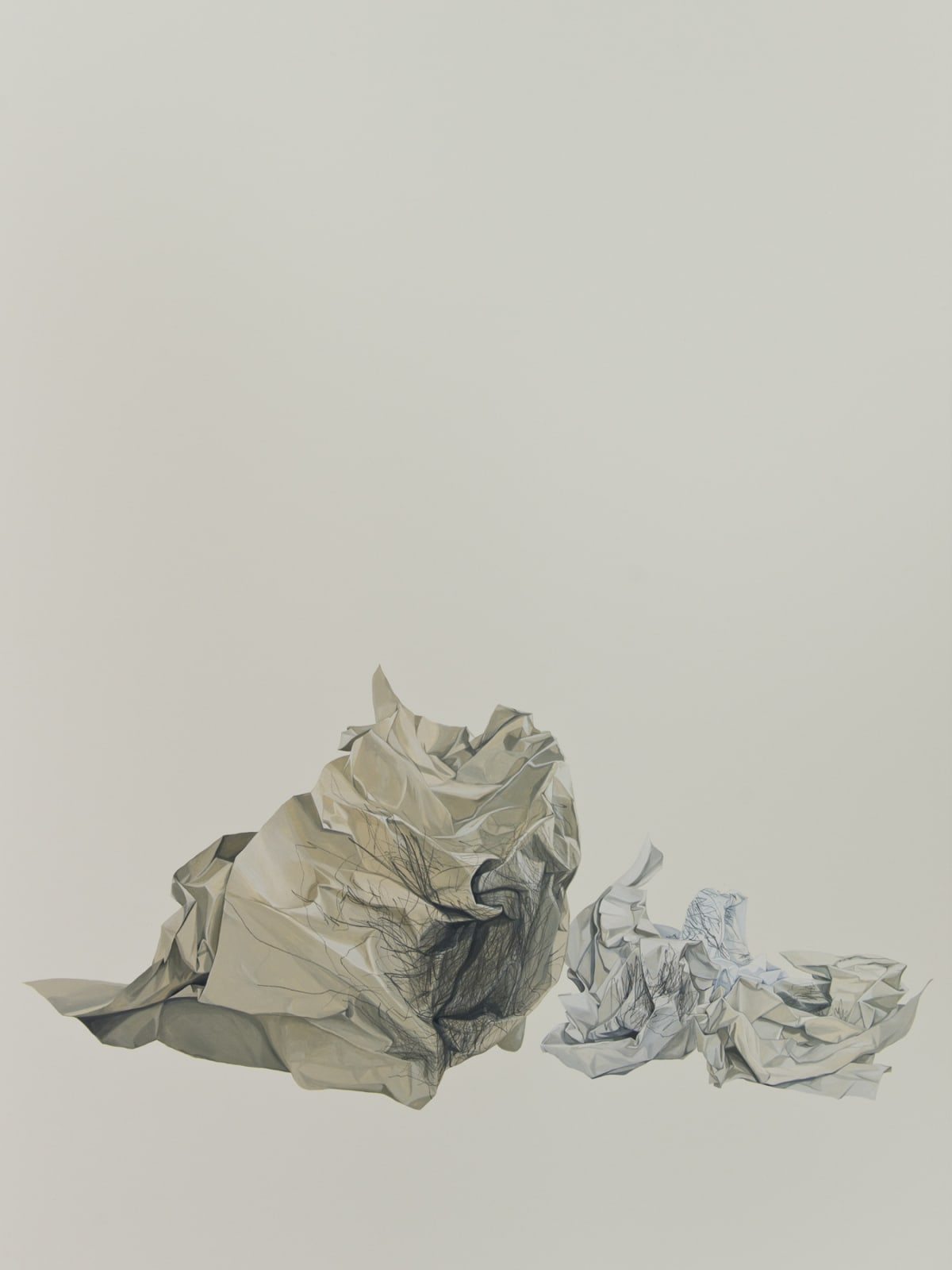 Marita Hewitt, Waste Paper Series; Charting Balance With My Eyes Closed, 2015