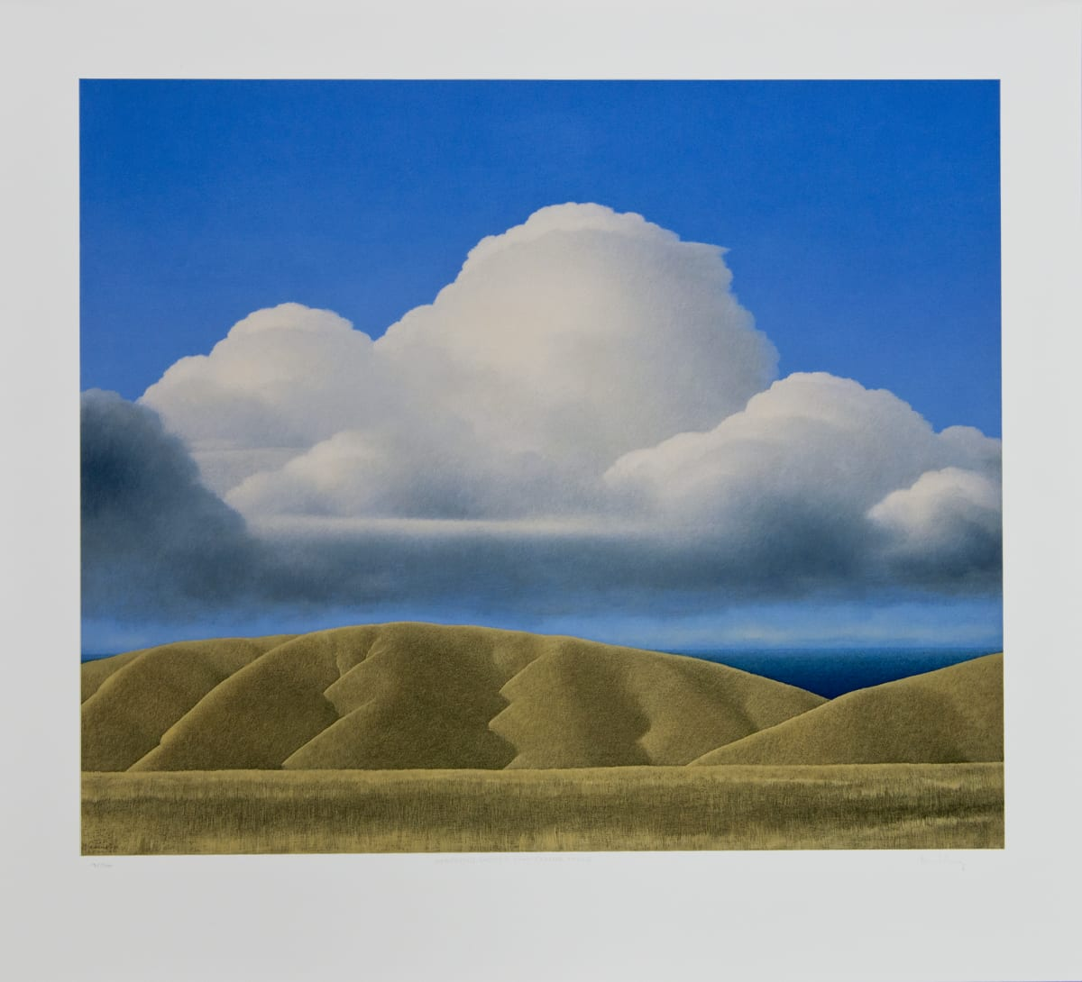 Brent Wong, Massing Clouds Over Ochre Hills, n.d.