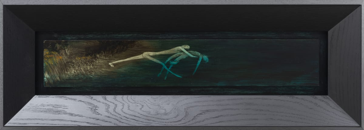 John WALSH Aroha nui, 2019 oil on board 245mm x 670mm (framed)