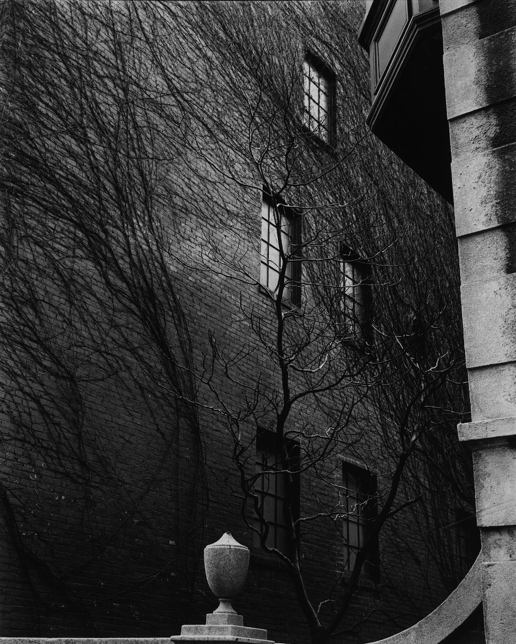 "Brett Weston Sutton Place, New York City, 1944 (Printed 1970's) Gelatin Silver Print Image - 10.5""x13.5"", Mount - 15""x18"", Matted - 16""x20"""