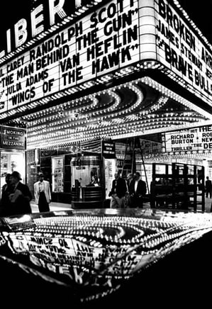 William Klein Wings of the Hawk, 42nd Street, New York, 1955, printed later Gelatin Silver Print 20 x 16 inches