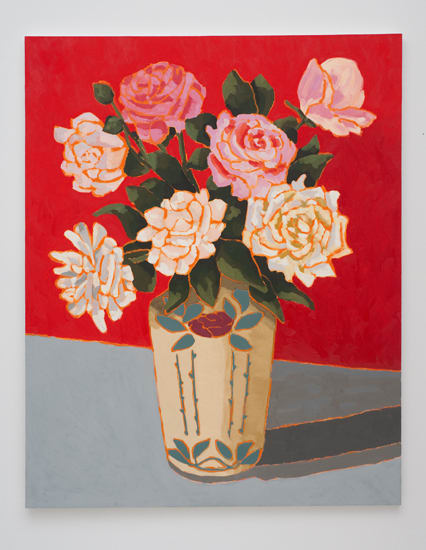 Holly Coulis, Roses with Red Background, 2011