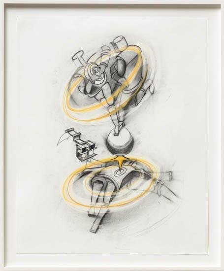 Ericka Beckman, Study for Cinderella's Robots (from 1985 notebook), 2015