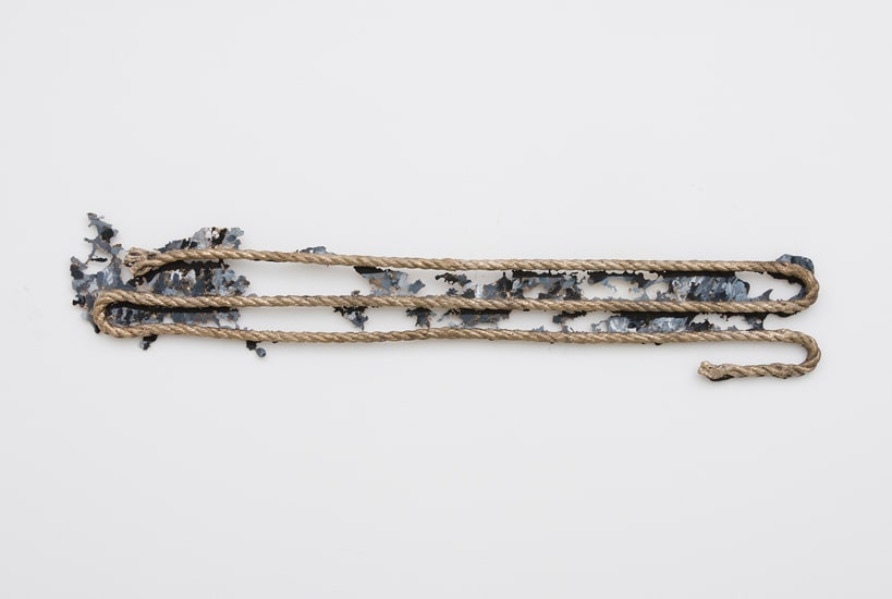 Katy Cowan, Rag and Shadow Rope (Resting Position), 2017