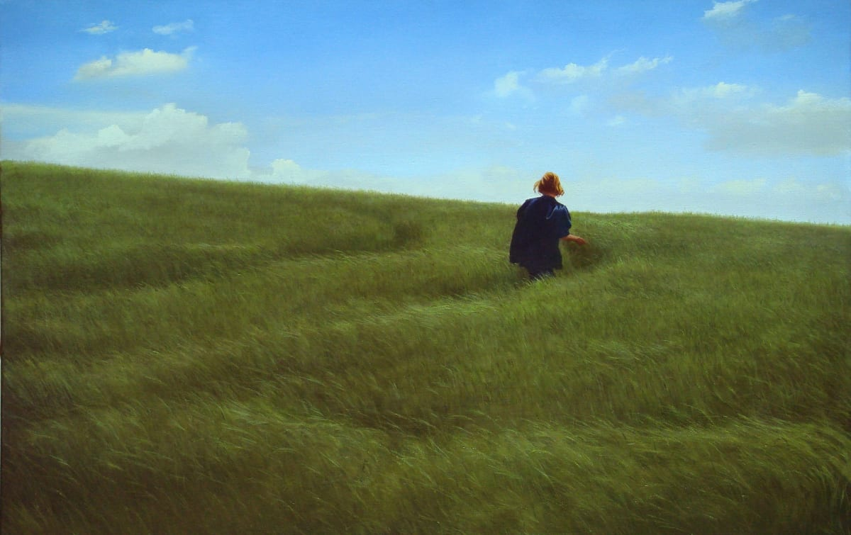 Carl Laubin The Path from Charlton oil on canvas 71 x 106 cm