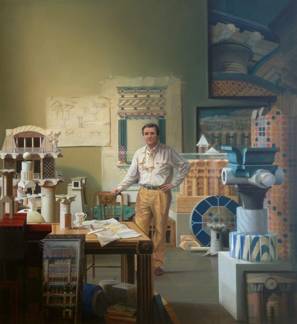 Carl Laubin Iconologica Oil on canvas 122 x 112 cm