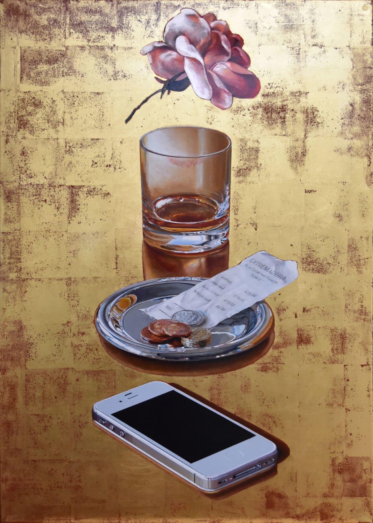 Cynthia Poole Extremadura Acrylic on canvas with gold leaf 102 x 72 cm
