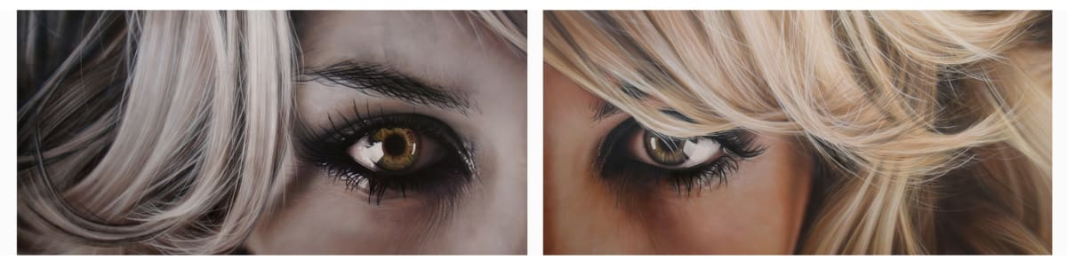 Simon Hennessey Gaze acrylic on board 60 x 246 cm