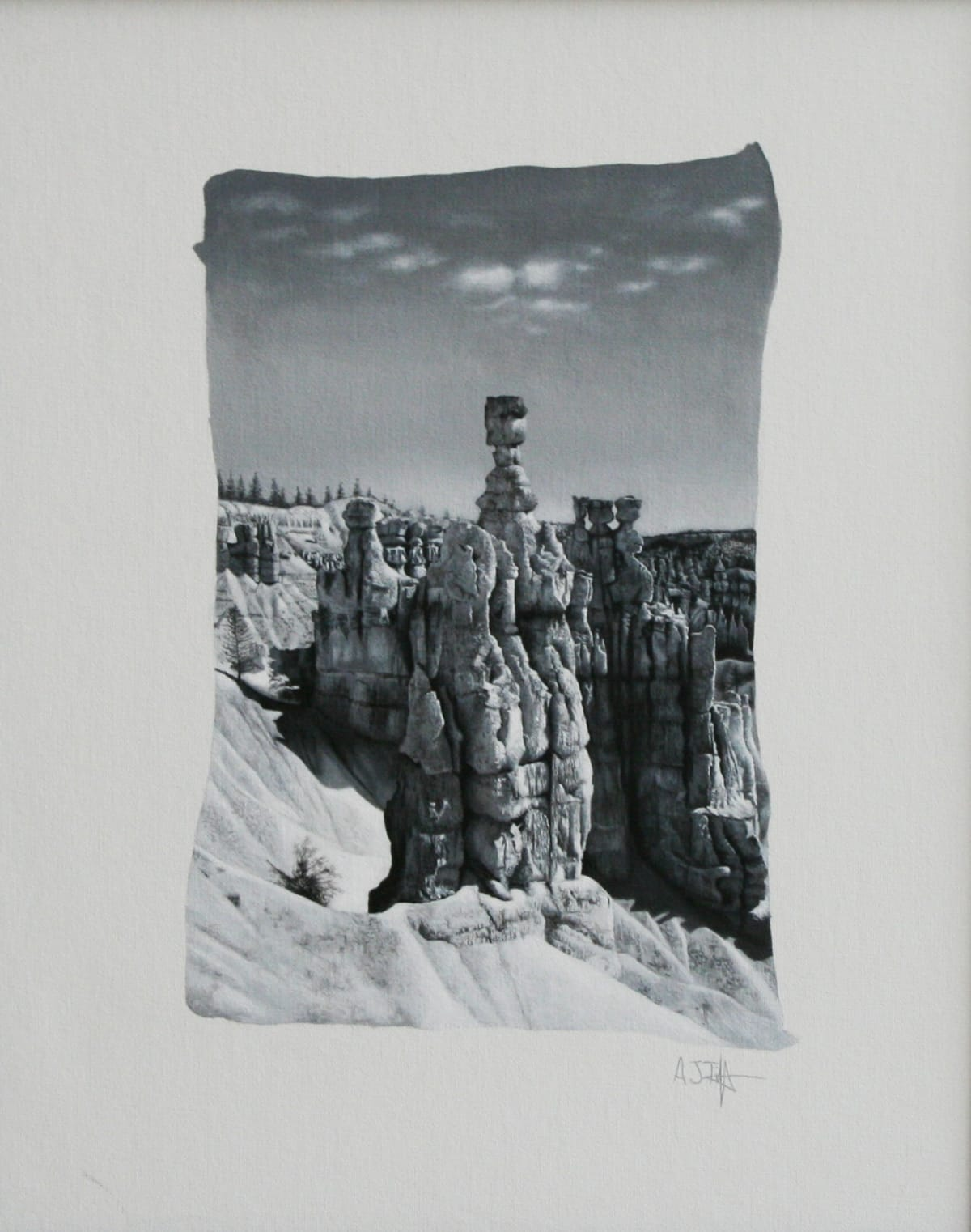"Andrew Tift Bryce Canyon Acrylic on canvas 15.7 x 12"" 40.5 x 30.5 cm"