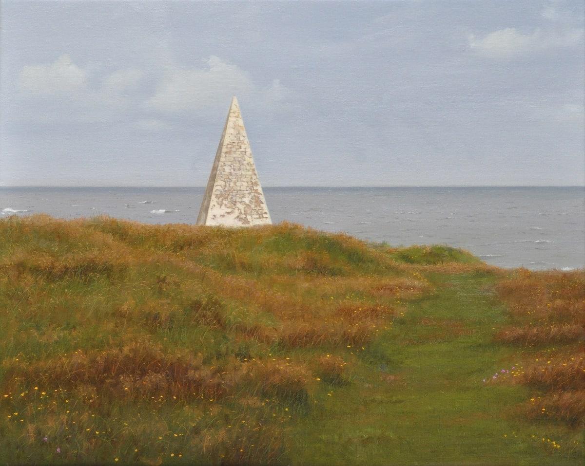 Carl Laubin Navigation Marker, Lindisfarne Oil on canvas 41 x 51 cm