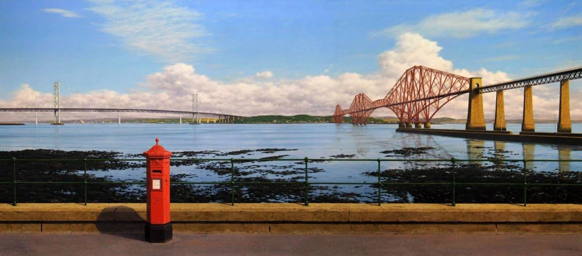 Steve Whitehead Forth Bridges Acrylic on canvas 61 x 137 cm
