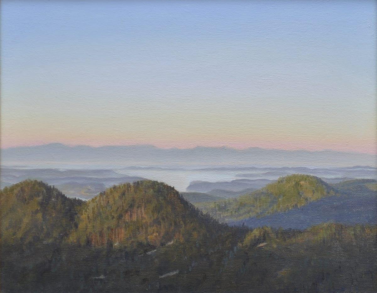 Carl Laubin The San Juan Islands from Mount Constitution 2 Oil on canvas 25 x 30 cm