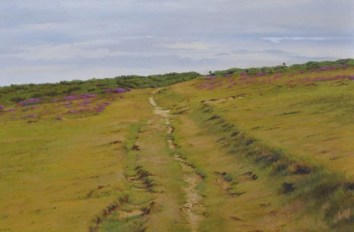 Carl Laubin Godrevy Point, Cornwall Oil on canvas 70 x 105 cm
